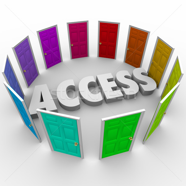 Access Open Doors Admission Exclusive Available Entry Stock photo © iqoncept