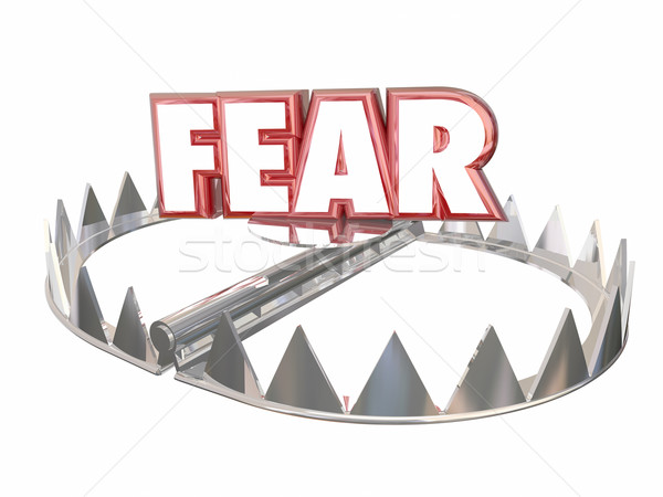 Fear Afraid Danger Scared Warning Bear Trap Word 3d Stock photo © iqoncept