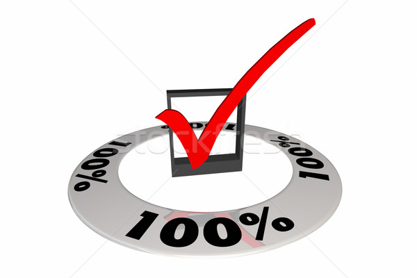 100 Percent One Hundred Full Total Score Number 3d Illustration Stock photo © iqoncept
