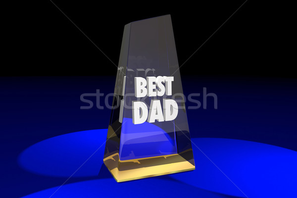 Best Dad Father Parenting Award Words 3d Illustration Stock photo © iqoncept