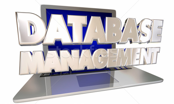 Database Management Customer Information Records Laptop Computer Stock photo © iqoncept