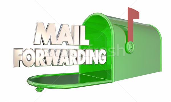Mail Forwarding Moving Relocation Mailbox Words 3d Illustration Stock photo © iqoncept