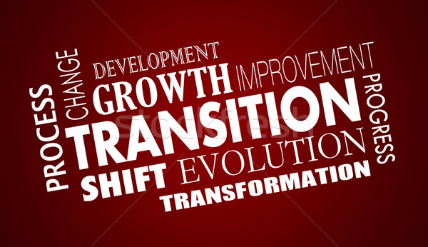 Transition Change Evolution Progress Word Collage Illustration Stock photo © iqoncept