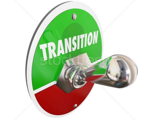 Transizione switch girare cambiare parola illustrazione 3d Foto d'archivio © iqoncept