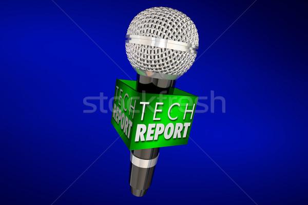 Tech sprawozdanie nowego innowacja produktu aktualizacja Zdjęcia stock © iqoncept