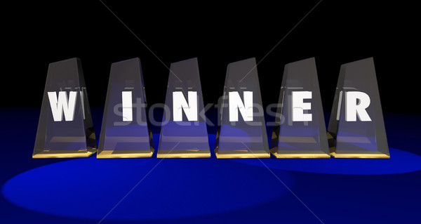 Winner Top Prize Awards Letters Word 3d Illustration Stock photo © iqoncept