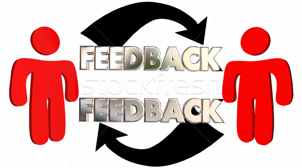 Stock photo: Feedback People Talking Sharing Opinions Comments 3d Illustratio