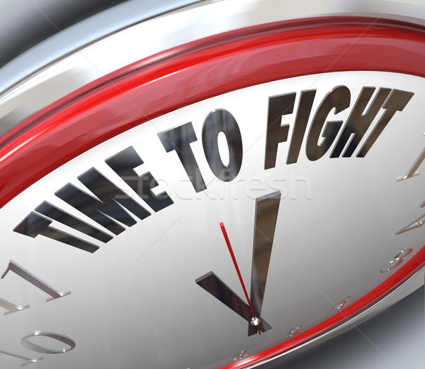Time to Fight Clock Resistance Fighting for Rights Stock photo © iqoncept