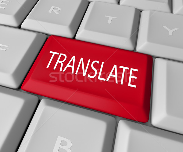 Translate Word Computer Keyboard Key Button Stock photo © iqoncept