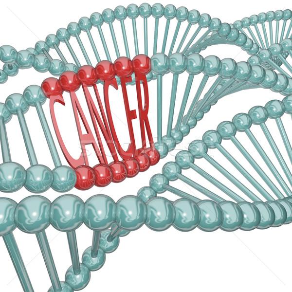 Kanser neden gizleme DNA kelime gizlenmiş Stok fotoğraf © iqoncept