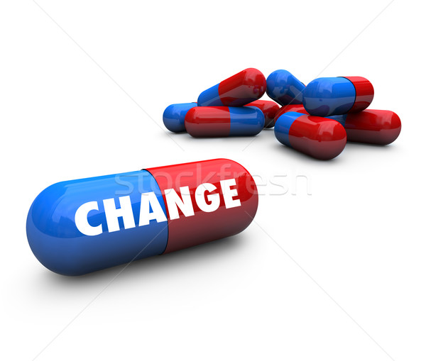 Stock photo: Instant Change - Capsule Pills
