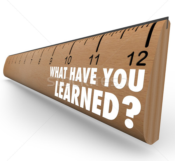 What Have You Learned Ruler Recap Feedback Review Stock photo © iqoncept