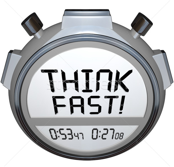 Think Fast Timer Stopwatch Quiz Answer Contest Stock photo © iqoncept