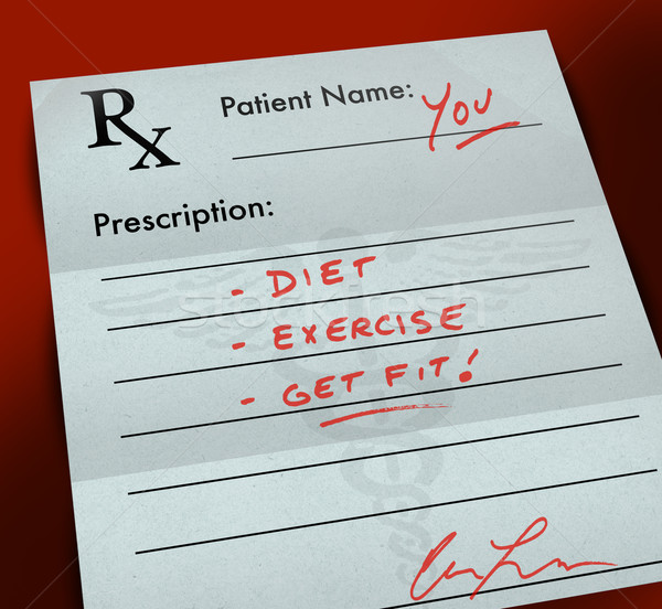 Prescription Form - Get Fit Stock photo © iqoncept
