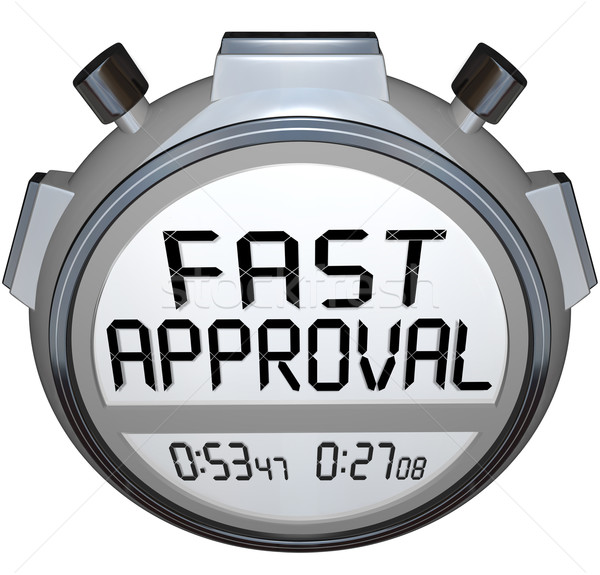 Fast Approval Words Stopwatch Timer Approved Loan Mortgage Credi Stock photo © iqoncept