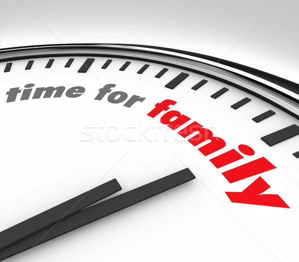 Foto stock: Tempo · família · relógio · momentos · pais · crianças