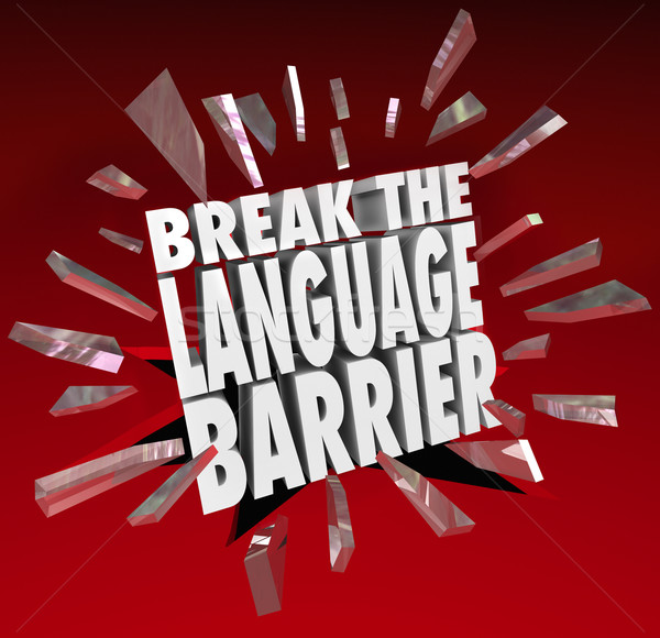 Break Language Barrier Translation Communication Understanding Stock photo © iqoncept