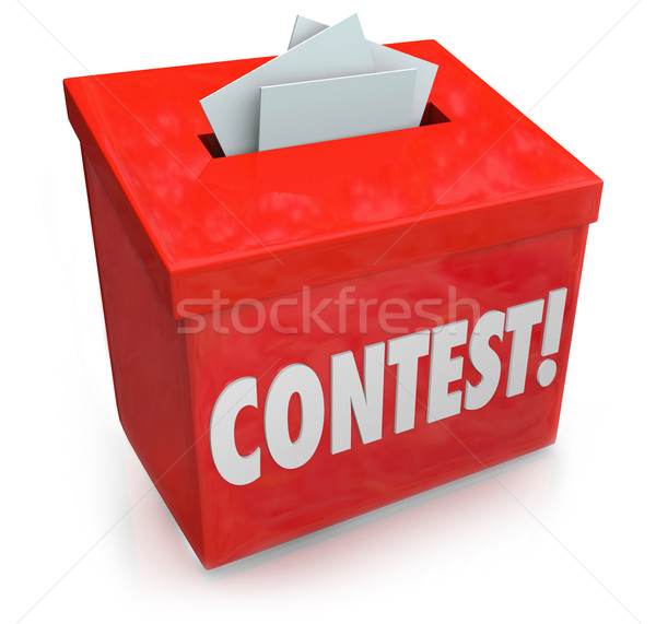 Contest Entry Form Box Enter Win Drawing Raffle Prize Stock photo © iqoncept