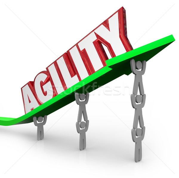 Agility Team Working Quickly Adapt Overcome Challenge Stock photo © iqoncept