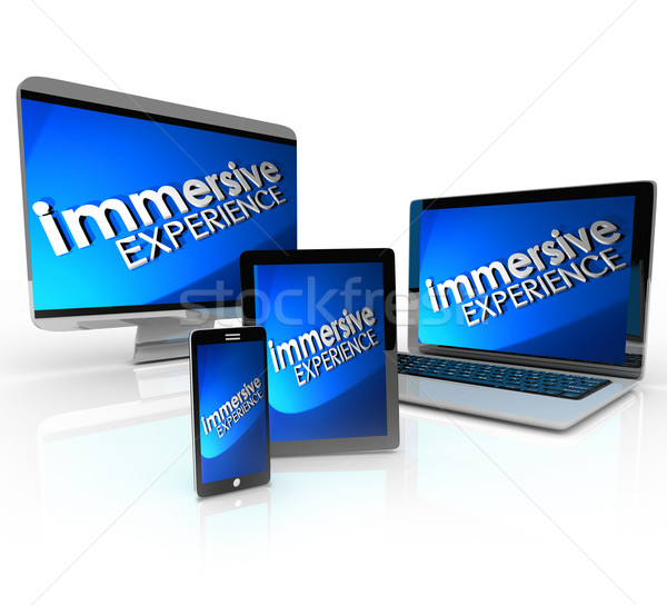 Immersive Experience Computer Devices Phone Tablet Laptop Stock photo © iqoncept