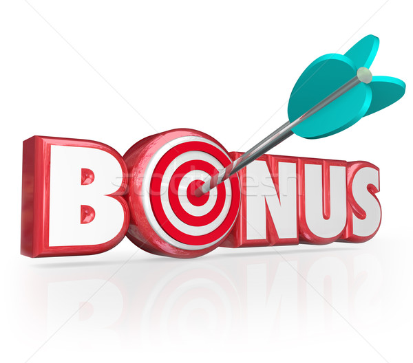 Bonus Word 3d Red Letters Premium Gift Plus Added Benefit Stock photo © iqoncept