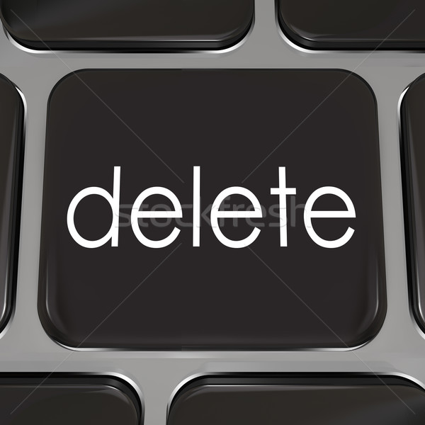 Delete Computer Keyboard Key Button Erase Mistake Redo Stock photo © iqoncept