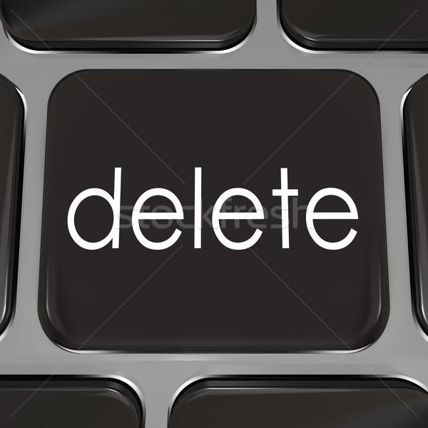 Chiave pulsante errore nero illustrare Foto d'archivio © iqoncept