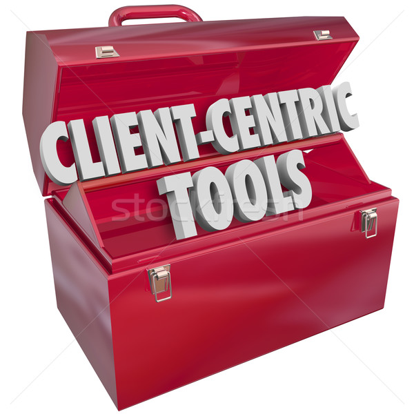 Client-Centric Tools 3d Words Toolbox Resources Stock photo © iqoncept