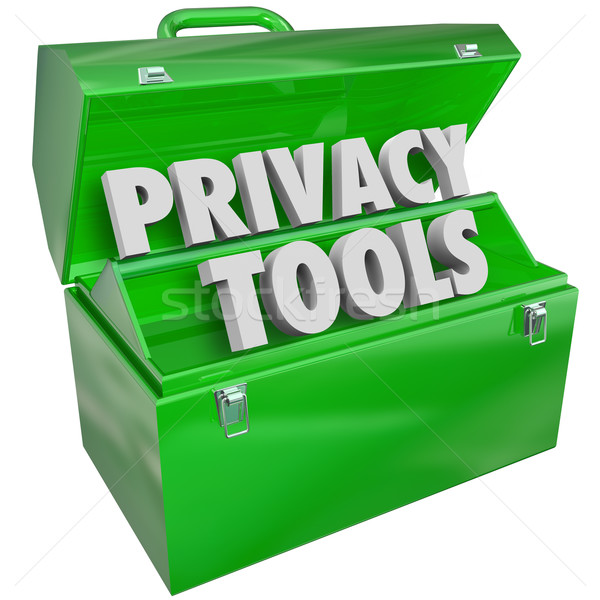 Privacy Tools Resources Data Personal Information Protection Too Stock photo © iqoncept
