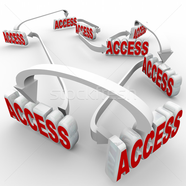 Access Connected Words Network Allowed Permission Entry Stock photo © iqoncept