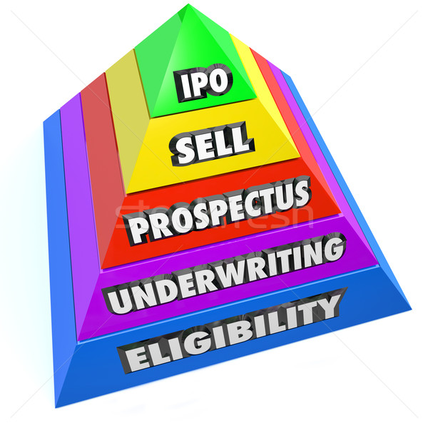 IPO Pyramid Steps Process Procedure Initial Public Offering Stock photo © iqoncept