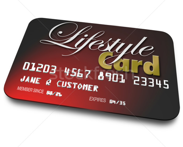 Lifestyle Card Credit Account Borrowing Money Payment Shopping Stock photo © iqoncept