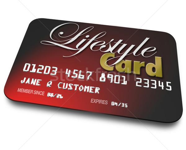 életstílus kártya kredit számla kölcsönvesz pénz Stock fotó © iqoncept