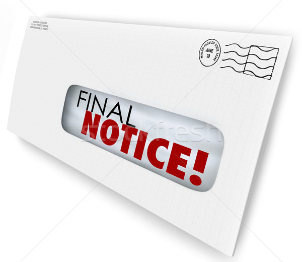Final Notice Envelope Bill Invoice Past Due Pay Now Stock photo © iqoncept