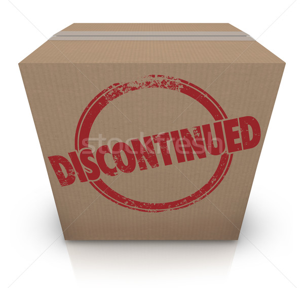 DIscontinued Cardboard Box Cancelled Product Out of Stock Stock photo © iqoncept