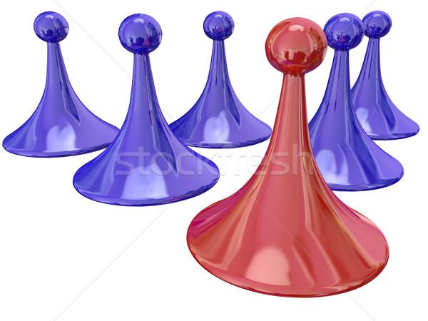 Rosso gioco pezzo vincente concorrenza Foto d'archivio © iqoncept