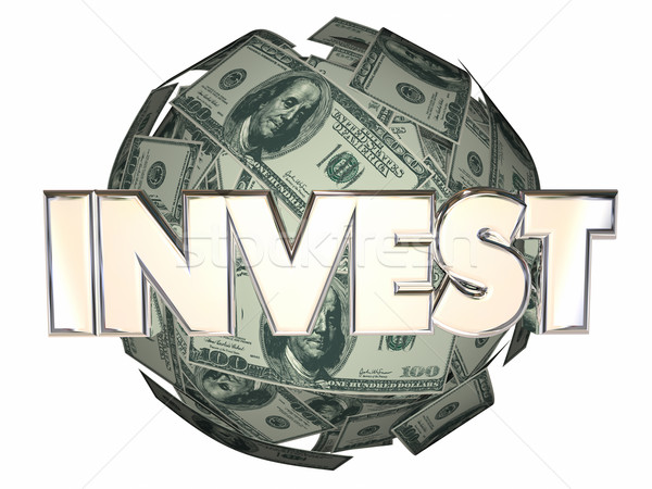 Invest Money Cash Stock Market Wall Street Dollar Sphere Stock photo © iqoncept