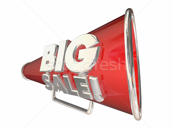 Big Sale Save Money Megaphone Bullhorn 3d Animation Stock photo © iqoncept