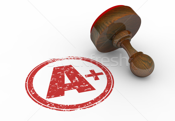 A Plus Grade Perfect Score Stamp Letter 3d Illustration Stock photo © iqoncept