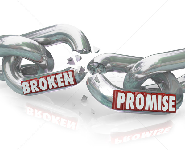 Broken Promise Chain Links Breaking Unfaithful Violation Stock photo © iqoncept