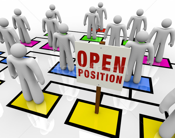 Open Position in Organizational Chart Stock photo © iqoncept