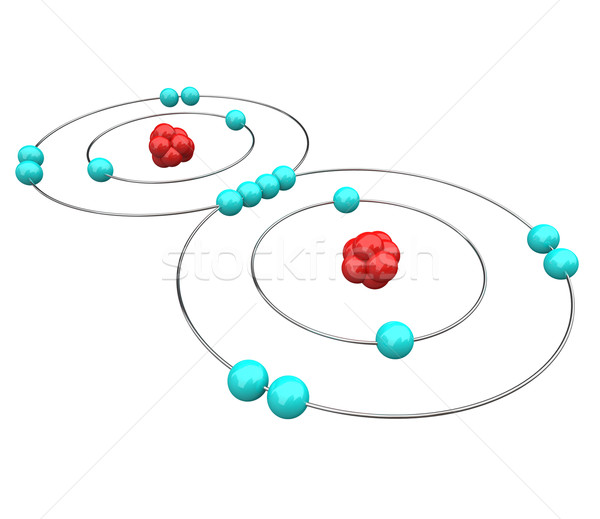 Oxygen - Atomic Diagram Stock photo © iqoncept