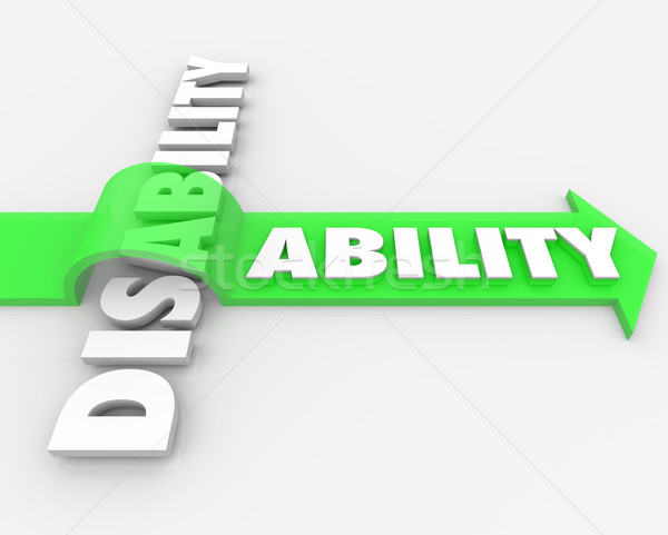 Disability Vs Ability Overcoming Physical Handicap Stock photo © iqoncept
