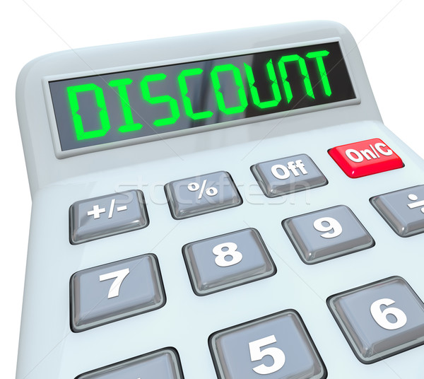 Discount Word Calculator Special Savings Clearance Sale Stock photo © iqoncept