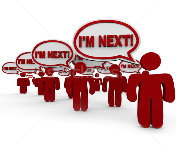 I'm Next People Customers Waiting in Line Service Support Stock photo © iqoncept