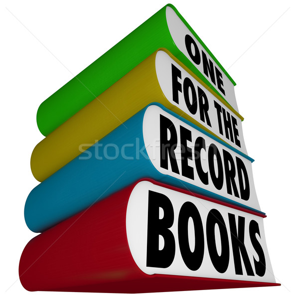 Une record livres meilleur performances vitesse Photo stock © iqoncept