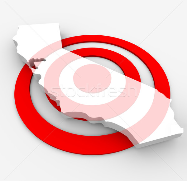 Target California - Marketing Concept Stock photo © iqoncept
