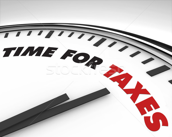 Time for Taxes - Clock Stock photo © iqoncept