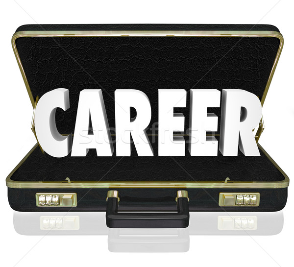 Career Word Black Briefcase New Job Working Position Stock photo © iqoncept