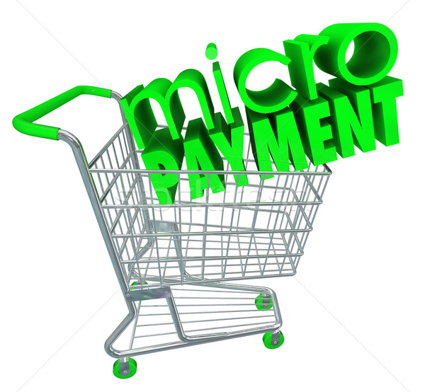 Micro Payments Shopping Cart Buy Send Money Digital Store Stock photo © iqoncept